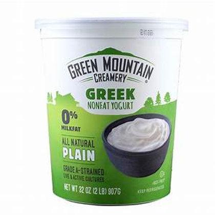 Green Mountain Greek Plain 0% Yogurt