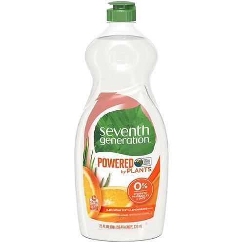 Seventh Generation Powered by Plants Dish Liquid Clementine Zest & Lemongrass --