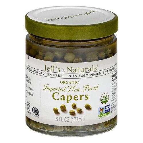 Jeff's Garden Imported Non-Pareil Organic Capers 6 oz