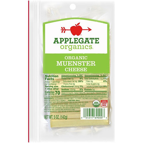 Organic Muenster Cheese, Sliced - 5 oz