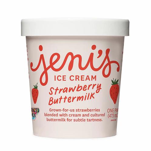 Jeni's Strawberry Buttermilk - Pint