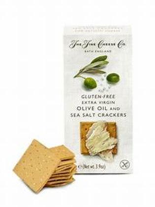 The Fine Cheese Co. Gluten Free EVOO and Sea Salt Crackers 3.9 oz
