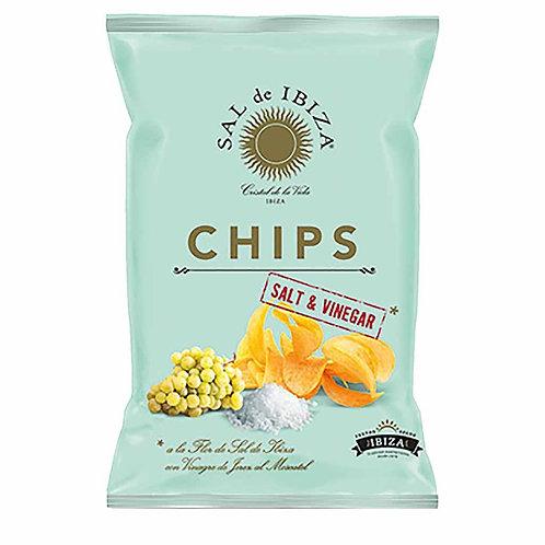 Ibiza Salt & Vinegar Potato Chips by Sal de Ibiza, 4.4 oz. (125g)