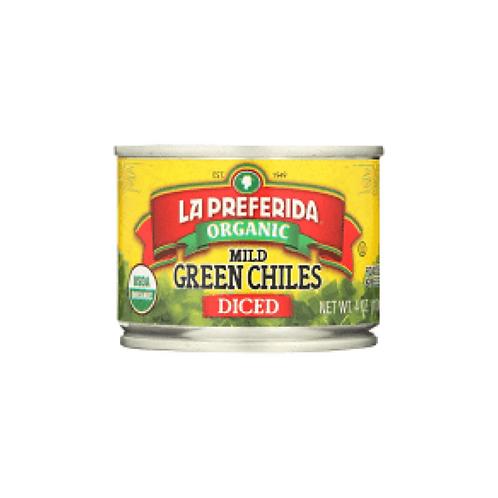 La Preferida Organic Green Chiles, Mild-Diced