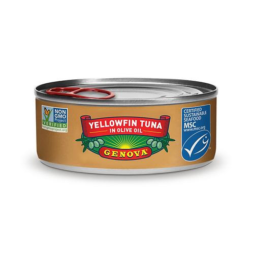 Genova Yellowfin Tuna in Pure Olive Oil, 5 Ounce