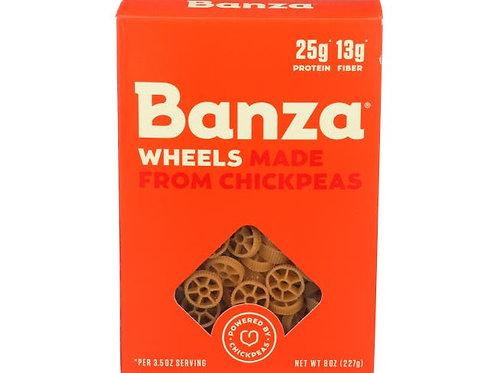Banza Chickpea Wheels Pasta, 8 Ounce
