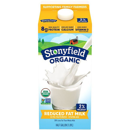 Stonyfield Organic Reduced Fat Milk