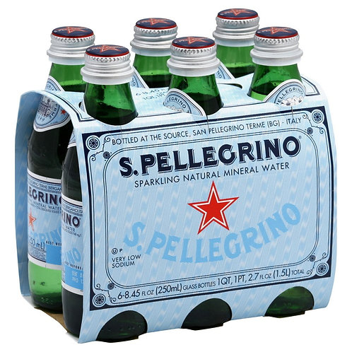 San Pellegrino, Bottles, 8 fl oz, 6 pack