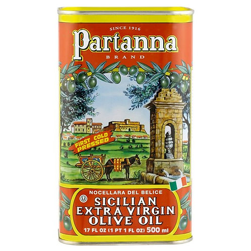 Partanna Extra Virgin Olive Oil 17 oz Container