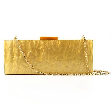 Clutch fashion auriu cu irizații Cleopatra