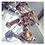 Thumbnail: Pantofi toc auriu model floral Medeea