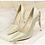 Thumbnail: Pantofi auriu metalizat cu toc dantelat Bella
