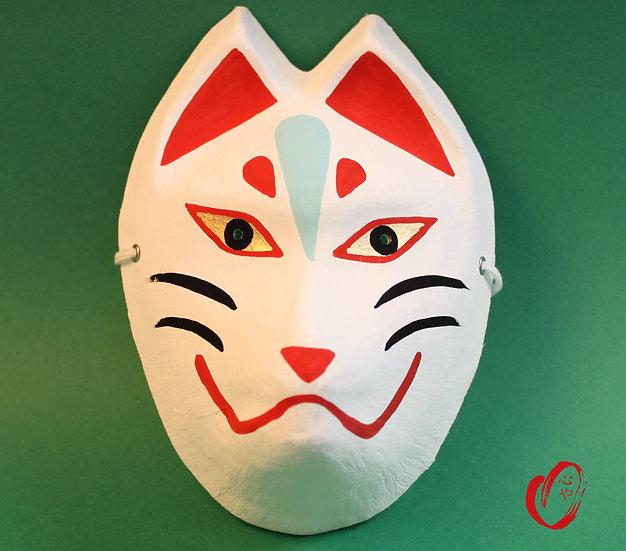 Masque Kitsune papier Washi