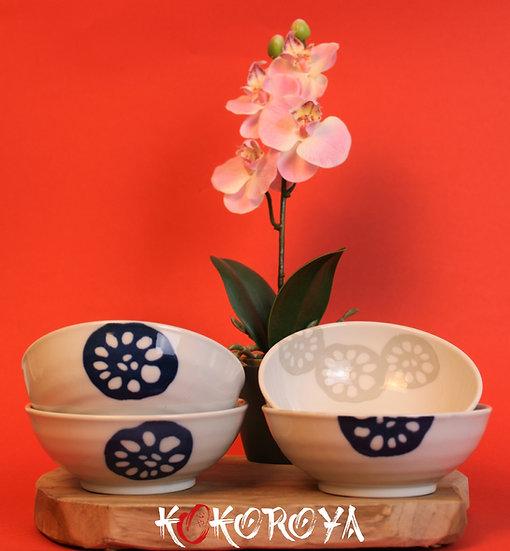 Bol à riz lotus bleu et gris