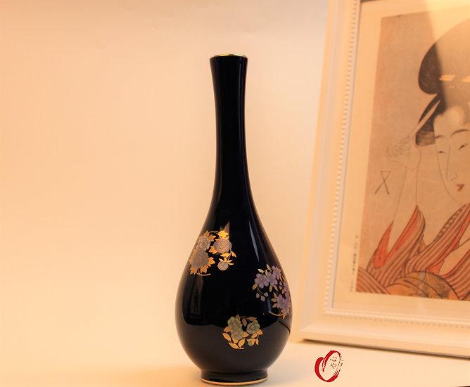Vase fleur bleu ruri