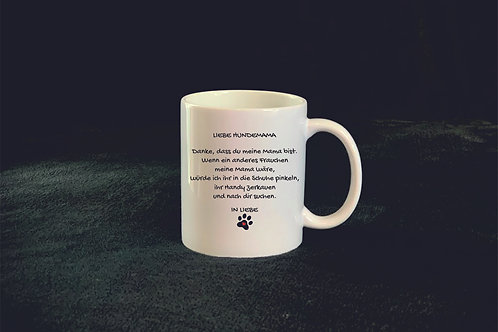 "Tasse ""Liebe Hundemama"""