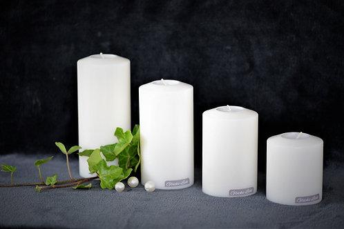 Kerze mit Teelicht - Ø 80mm   verschiedene Höhen