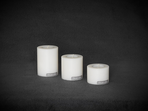 Kerze mit Teelicht - Ø 70mm   verschiedene Höhen