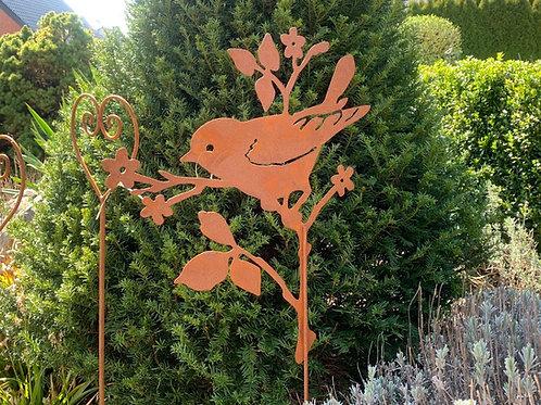 """Gartenstecker """"Vogel auf Ast"""""""