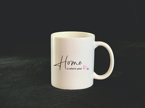 "Tasse ""HOME is where your heart is"""