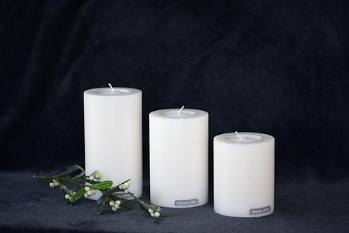 Kerze mit Teelicht - Ø 100mm   verschiedene Höhen