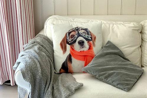 """Kissenhülle """"Beagle"""" inkl. Füllung"""