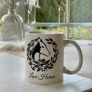"Tasse ""Love Horses"""
