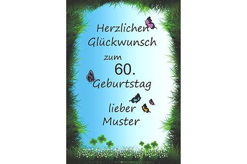 """Herzlichen Glückwunsch """"Runder Geburtstag"""""""