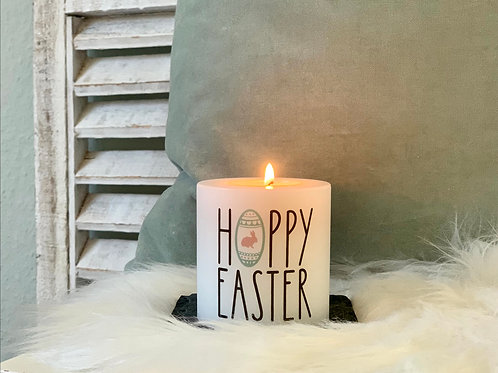 Kerze mit Happy Easter Ei