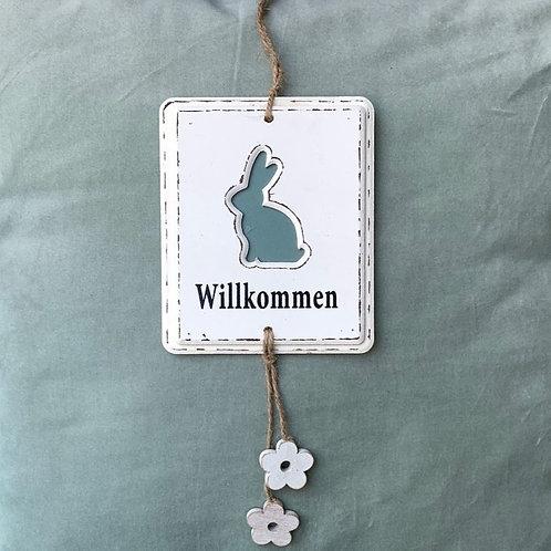 Willkommens-Schild
