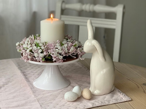 Kranz mit Schleierkraut und rosa Beeren