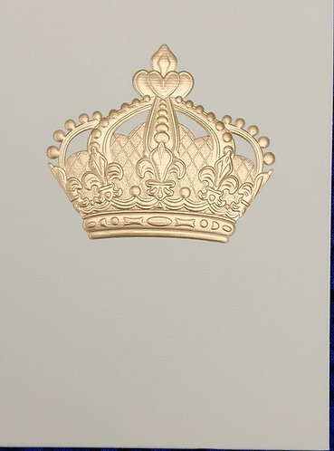 Embossed Crown all occasions card