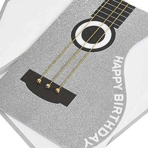 Braille guitar Birthday Card