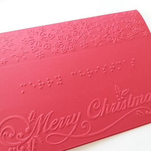Braille Christmas embossed card