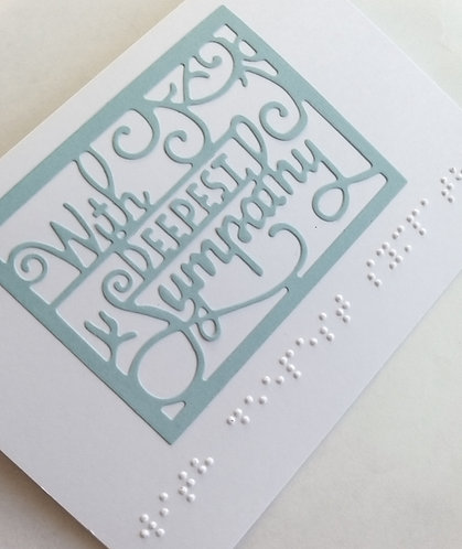 Braille With deepest sympathy card
