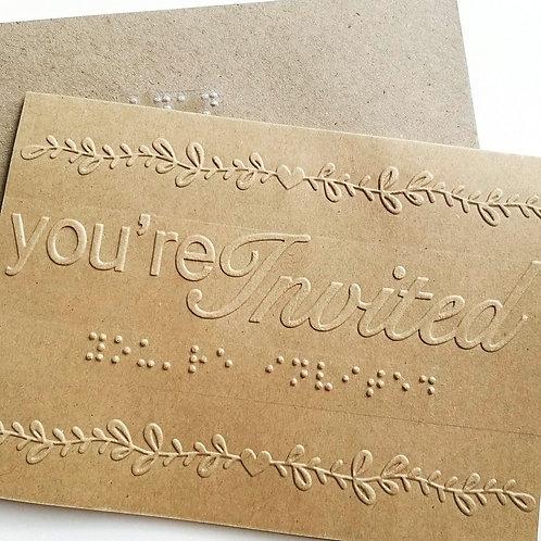 Braille invitation card