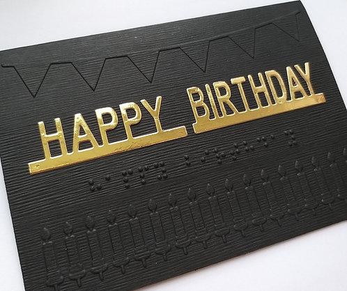 'Happy Birthday' embossed card