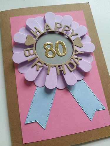 Braille Milestone birthday card