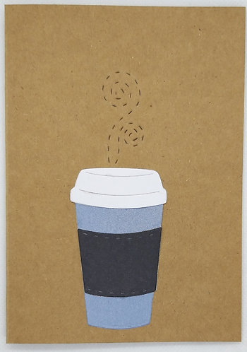 Coffee cup all occasions card