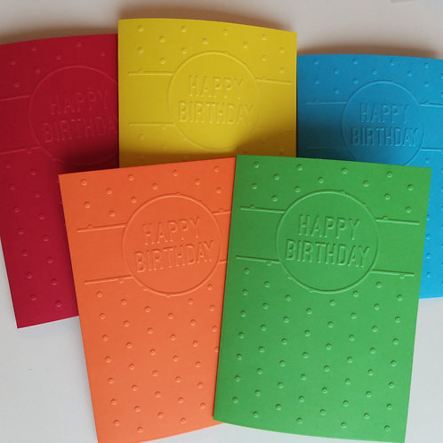 Tactile Braille 'Happy Birthday' card
