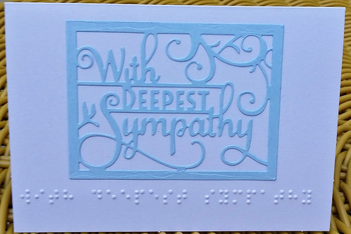With deepest sympathy Braille card