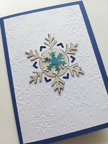 Braille Christmas snowflake card
