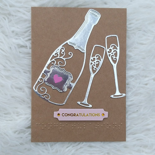 Congratulations Braille card