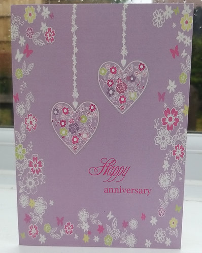 Non-Tactile printed Happy anniversary Braille card