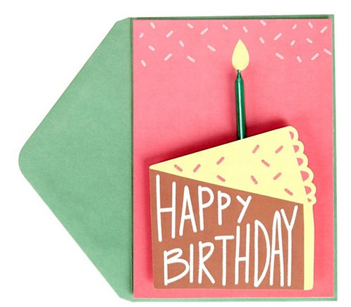 Braille candle birthday card