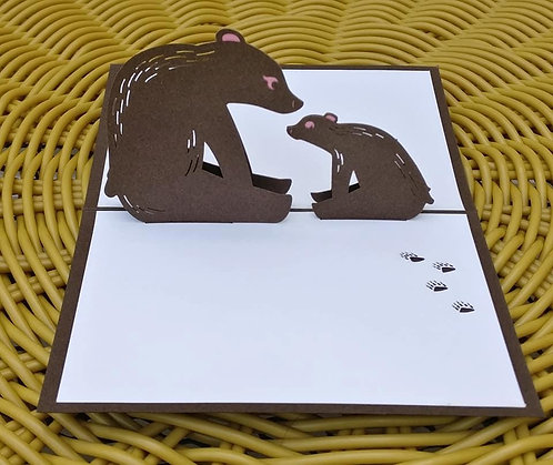 Pop Up Brown Bear All occasions greetings card