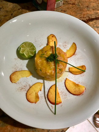 Tartare saumon & mangue