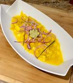Salade de mangue & oignons rouge
