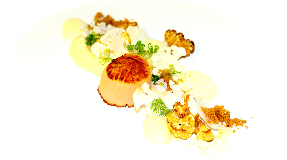 Seared Scallop - Texures of Cauliflower 2012