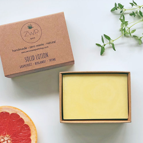Zero Waste Path Solid Lotion Moisturising Bar - Citrus